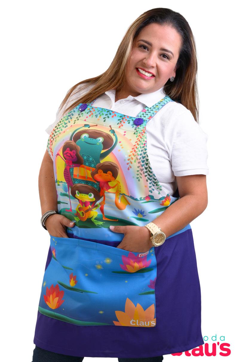 mandiles para maestras de preescolar moda claus 11