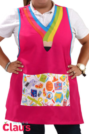 venta de batas para maestras de preescolar color rosa
